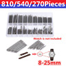 270-810Pcs 8-25mm Wrist Watch Band Spring Bars Strap Link Pins Repair Tools Kits