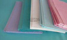"50 Disposable Patient Bibs ASSORTED Dental Tattoo Medical Spa 2+1 Ply 13"" x 18"""
