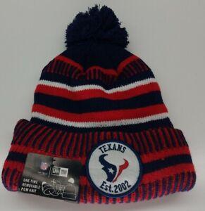 Dallas Texans Est 2002 NFL On Field New Era Winter Knit Pom Hat Cap New w/Tags