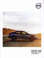 2017 MY Volvo S60 Cross Country 2016 catalogue brochure