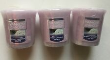 Yankee Candle HONEY LAVENDER GELATO 3 WRAPPED VOTIVES NEW SCENT SPRING 2017