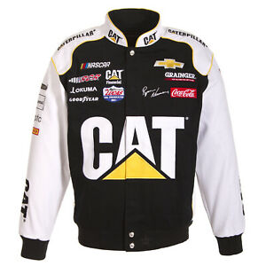 Ryan Newman Caterpillar Cat Jacket Black White Cotton Jacket JH Design