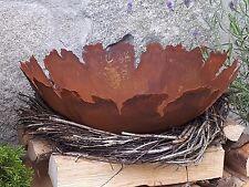 Edelrost Schale Riss groß mit Kugeln Dekoration Garten Säule Pflanzschale Beet