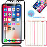 Premium 3D Full Cover Curved Tempered Glass Screen Protector Film For iPhone X