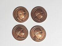 Royal Horticultural Society Bronze Commemorative Coin Medal Sir Joseph Banks x4