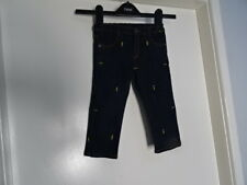 Original FENDI Made in Italy BMF036 7AR Pantalone Blue pant trouser kid