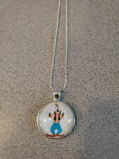 GOOFY KIDS UNISEX SILVER PENDANT NECKLACE NEW WITH ORGANZA BAG