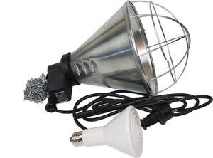 Schutzkorb (Sparschalzung) und Elstein - Infrarot  Wärmestrahler 150 Watt  E27