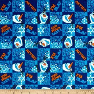 DISNEY FROZEN OLAF CHILLIN SPRINGS CREATIVE 100% BRUSHED COTTON FLANNEL CP52173