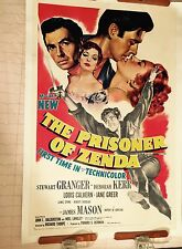 The Prisoner Of Zenda vintage original movie poster 1954 Litho Linen Back Kerr +