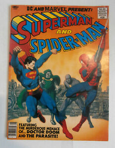 Marvel Treasury Edition #28 SUPERMAN, SPIDER-MAN, JOHN BUSCEMA, 1981 VG+  r