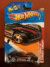 2012 Hot Wheels 2009 CORVETTE STINGRAY CONCEPT 196/247 Black w/Red