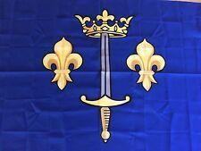 DRAPEAU  armoiries jeanne d'arc blason flag sainte jeanne orleans bandiera