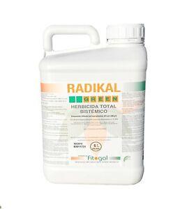Désherbant 5L Herbicide Professionnel Radikal Total Jardin Cour et Allée