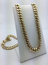 "New Men's Heavy Solid 14K Yellow Gold Cuban Link Necklace 31"" 10 mm 226.1 grams"