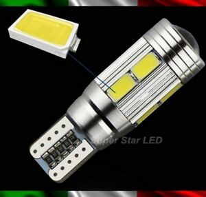 Pair Position Lights 10 LED T10 W5W Lens Volvo V60 6000K Canbus Error Free