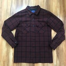 Vintage Mens Pendleton Board Shirt Fitted Medium Red