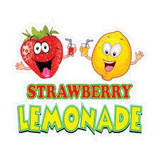 Strawberry Lemonade Concession Restaurant Food Truck Die Cut Vinyl Sticker