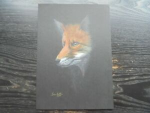 Original Signed Pencil Drawing Fox