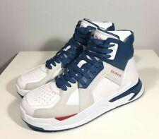 Brand-new Men's Balmain White/Blue/Red B-Ball High-top Sneakers in US12/EU45