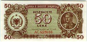 Albania 50 Leke 1947 🔸UNC🔸 Banknote - k166