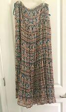 INC 100% Silk Maxi long Skirt Size 6