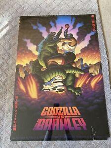 """Vintage 1992 NIKE CHARLES BARKLEY vs GODZILLA Poster - FULL SIZE -24"""" x 36"""" in"""
