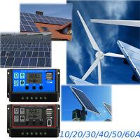 Regolatore di carica del pannello solare a doppio pannello USB LCD 12A/24V 60A