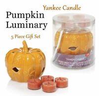 YANKEE CANDLE Tea Light Holder Fall LUMINARY Spiced PUMPKIN Fragrance GIFT SET