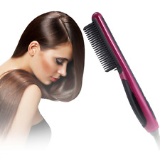 Hair Straightening Styler Brush Dryer One Step Air Hot Volumizer Straightener US