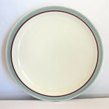 """Syracuse Highland Salad Dessert Plate 7.25""""  Blue Grey and Red Maroon Band"""