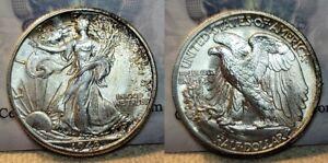 1943 D Walking Liberty Half Dollar 50c GEM BU