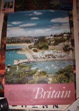 Britain Torquay South Devon Travel Poster Tourism 1958 original vintage