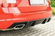 Skoda Octavia vRS 2.0 TFSi RIEGER Rear Bumper Insert / Diffuser  - Gloss Black