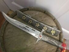 ORNATE COMBAT KNIFE FIXED 9 INCH BLADE METAL SHEATH ARAB KNIGHT FANTASY MEDIEVAL