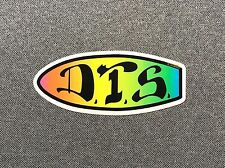 Dogtown DTS neon Skateboard Sticker 4in D.T.S si
