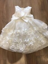 Bonnie Baby Girls White Party Dress Age 24 Months