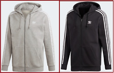 Adidas Originals Mens Trefoil Logo Fleece 3 Stripes Hoodie Top Hooded Zipper