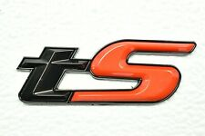 TS Limited Glossy Black Red Trunk Gate Badge Emblem For WRX STI Forester