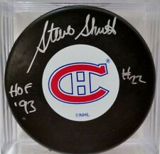 STEVE SHUTT Montreal Canadiens AUTOGRAPHED Signed NHL Hockey Puck COA
