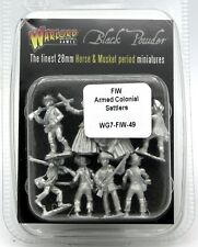 Black Powder WG7-FIW-49 Armed Colonial Settlers (French & Indian War) Civilians