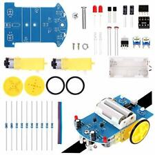 Soldering Practice Kit Electronic Diy Project Line Following Car Dc Motor