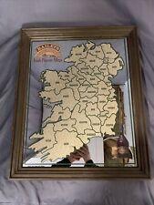 """Bailey's Original Irishcream 1977 Aer Lingus Bar Mirror """"Irish Name Map�"""