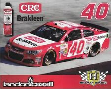 "2014 LANDON CASSILL ""CRC BRAKLEEN HILLMAN RACING #40 NASCAR SPRINT CUP POSTCARD"