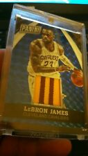 2015 LeBron James Panini VIP Blue Refractor 2 Color Jersey Card# 23/25 Very Rare