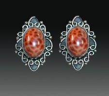Fire Agate Sterling Clip/Post Earrings Sale - Amy Kahn Russell