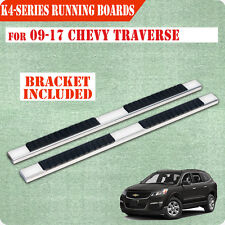 "Fit 09-17 CHEVY TRAVERSE GMC ACADIA 4"" Side Steps Nerf Bar Running Boards H SS"