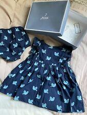 Girl's Size 12M 9-12 Month 2 Piece Blue & Light Blue Birds � Frills Dress, Dc