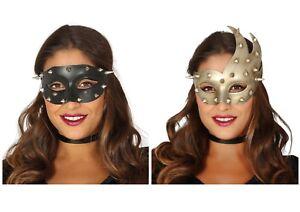 Hérissé Clouté Masquerade Masque Visage Vénitien Déguisement Punk Steampunk