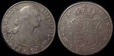 pci755) SPAIN  Carolus IIII DEI G 8 Reales 1802 MADRID  MINT Uncleaned